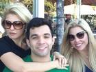 Antônia Fontenelle posta foto com namorado e a sogra: 'Amores'