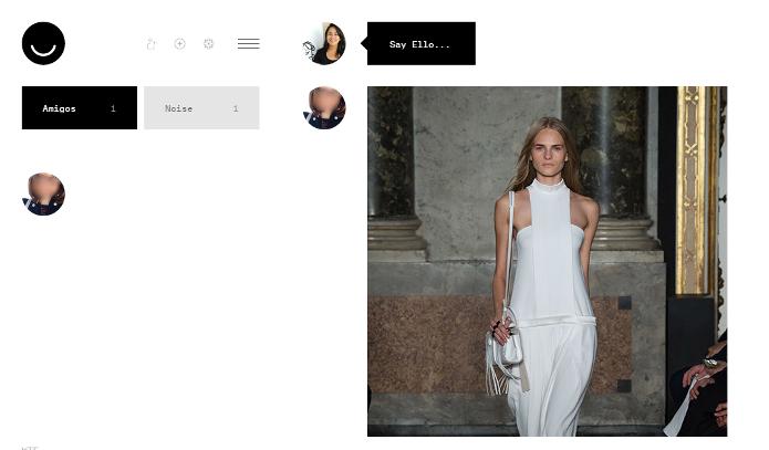 A interface do Ello é minimalista e bonita (Foto: Reprodução/Lívia Dâmaso)