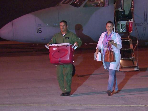 FAB fez o primeiro transporte de órgão para o Recife (Foto: TV Globo/Reprodução)
