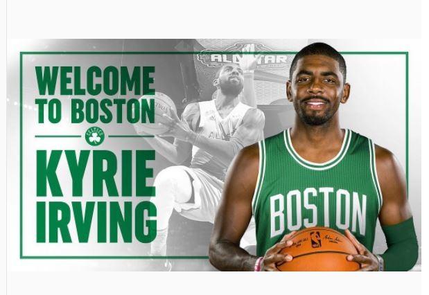 Kyrie Irving é confirmado no elenco do Boston Celtics
