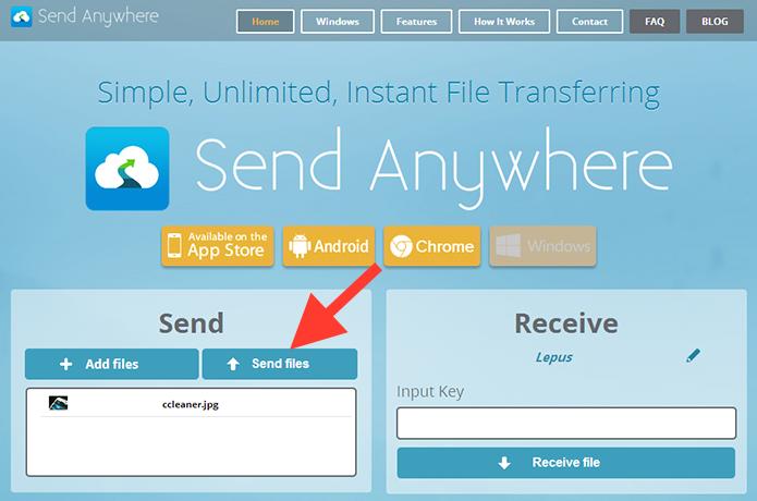 Criando os códigos de acesso ao arquivo anexado no Send Anywhere (Foto: Reprodução/Marvin Costa)