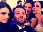Alessandra Ambrósio e Luciana Gimenez posam com amigos