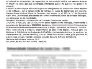 Decisão foi publicado no Diário Oficial do Estado (Foto: Reprodução / DOE)