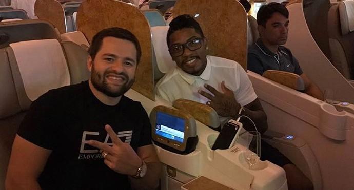 Marinho viaja com filho de Jorge Machado (Foto: Reprodução / Instagram)
