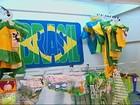 Comércio se prepara para a Copa do Mundo com artigos verde e amarelo