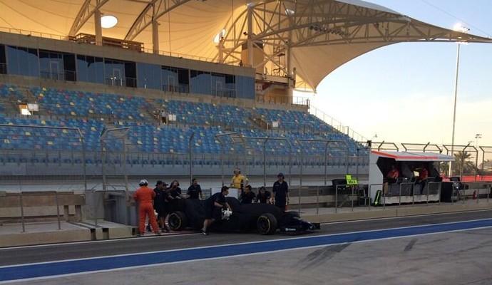 Após completar 108 voltas, Valtteri Bottas enfrentou um problema no motor do FW36 (Foto: Divulgação )