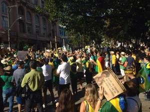 Em Santa Maria, protesto contou com cerca de 20 mil pessoas (Foto: Reprodução/RBS TV)
