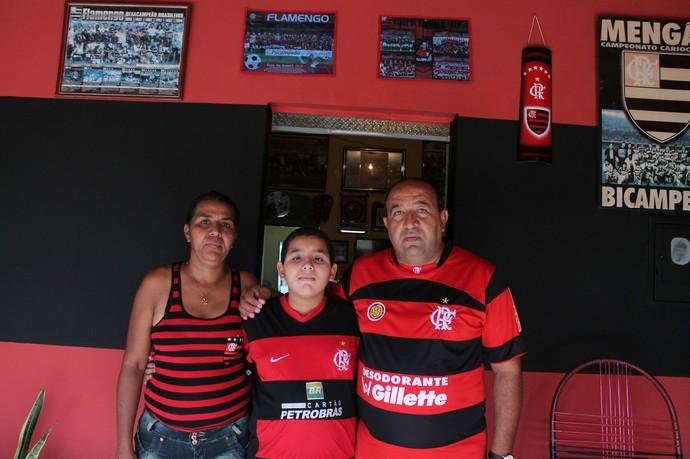 As cores do Flamengo fazem parte da vida da família  (Foto: Emerson Rocha)