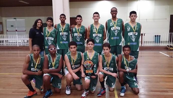 Sub-14 JF Celtics Copa Serrana título campeão (Foto: JF Celtics/Divulgação)