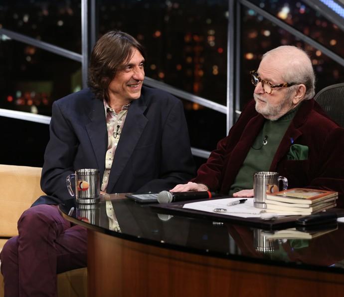 Jô Soares entrevista Eduardo Bueno (Foto: Carol Caminha/Gshow)