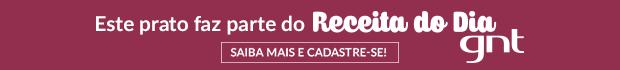 Tarja do Receita do Dia (Foto: Arte / GNT)