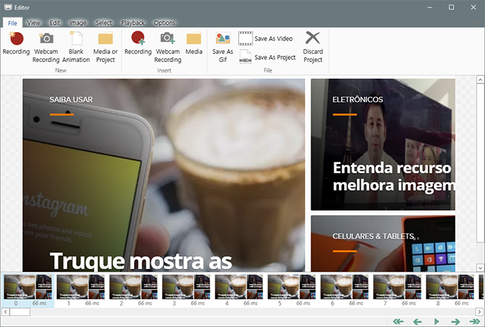 Screen To GIF captura a tela do PC para criar GIFs (Foto: Reprodução/Paulo Alves)