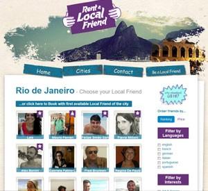 O site tem amigos de aluguel cadastrados em 22 países (Foto: Reprodução/rentalocalfriend.com)