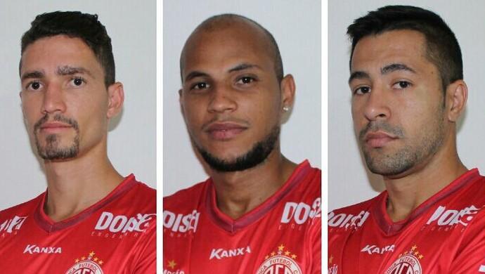 Danilo, Jussimar e Magno AMérica-RN (Foto: Canindé Pereira/Divulgação)