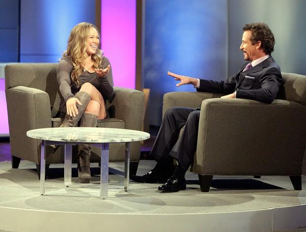 Ronda Rousey entrevista Showtime  (Foto: Michael Desmond/ Showtime)