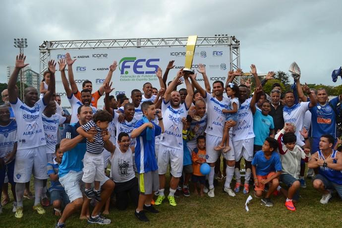 Vitória-ES foi campeão da Série B do Capixabão (Foto: Wagner Chaló/GloboEsporte.com)