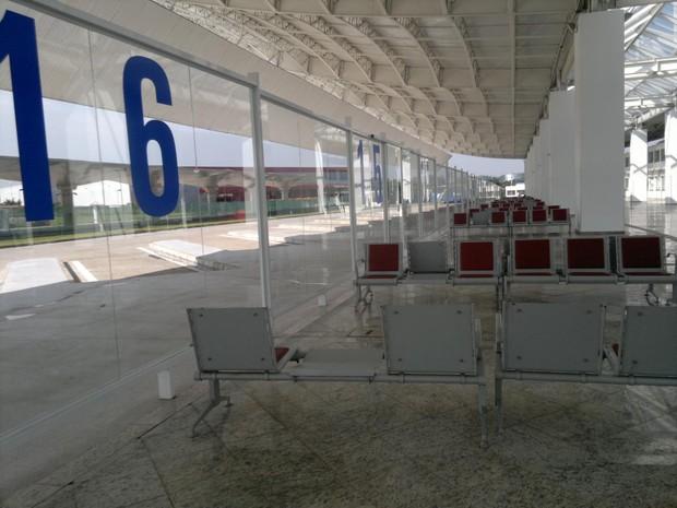 Após um ano fechada, rodoviária de Guarulhos reabriu, mas ainda não recebe passageiros (Foto: Rosanne D'Agostino)