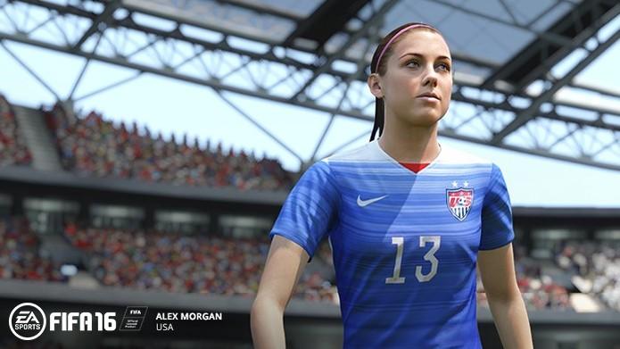 Fifa 16: Alex Morgan é a principal estrela do trailer (Foto: Divulgação/EA)