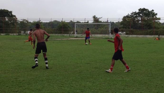 Sub-20, Santana intensifica preparação para o estadual no AP (Foto: Jonhwene Silva/GE-AP)
