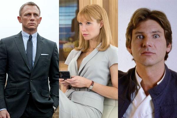 Daniel Craig, Gwyneth Paltrow e Harrison Ford já expressaram recusa em reviver antigos papeis mas voltaram atrás (Foto: Divulgação)