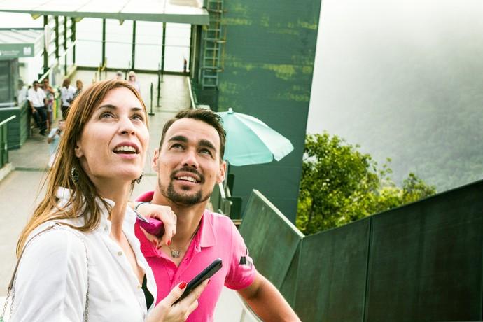 Fabio Fognini com a noiva (Foto: Bruno Lorenzo/FotoJump)