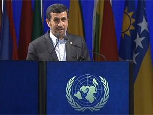 Frame Ahmadinejad, presidente do Irã, durante a Rio+20 (Foto: Reprodução)