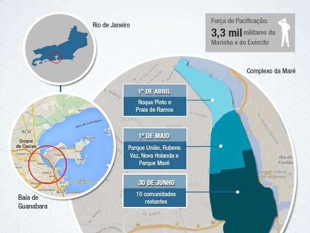 Desocupação da Maré - arte do Ministério da Defesa (Foto: Matusael Jorge / Ministério da Defesa / Divulgação)