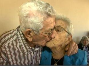 Caçula, de 94 anos, completou 69 anos de casamento (Foto: Reprodução RBS TV)