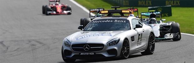O safety car da F1, o Mercedes AMG GT S de 510 hp (Foto: Divulgação/FIA)