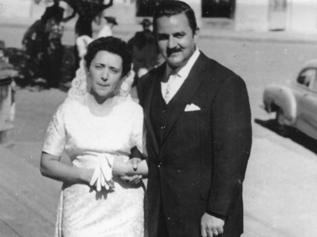 Teddy Vieira casou-se com América Risso em 1957 (Foto: Arquivo Pessoal/ Teddy Vieira Filho)