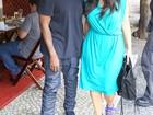 Com Kanye West, Kim Kardashian almoça na Zona Sul do Rio