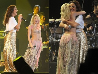 Ivete e Shakira (Foto: Roberto Filho. AgNews)