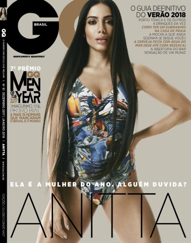 Anitta na capa da edição de Dezembro/Janeiro (Foto: GQ Brasil)