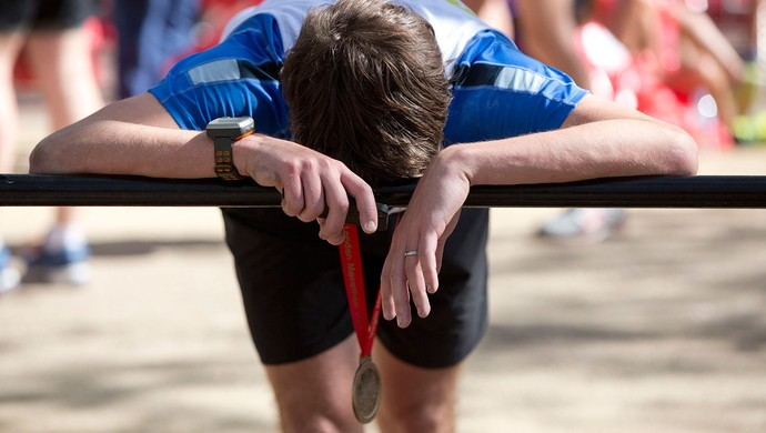 participante Maratona Londres cansado (Foto: Reuters)