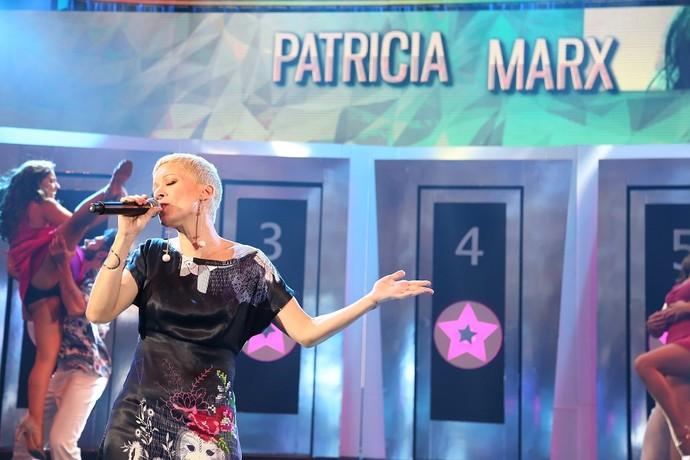 Patrícia Marx levantou a plateia do 'Domingão' (Foto: Carol Caminha/Gshow)