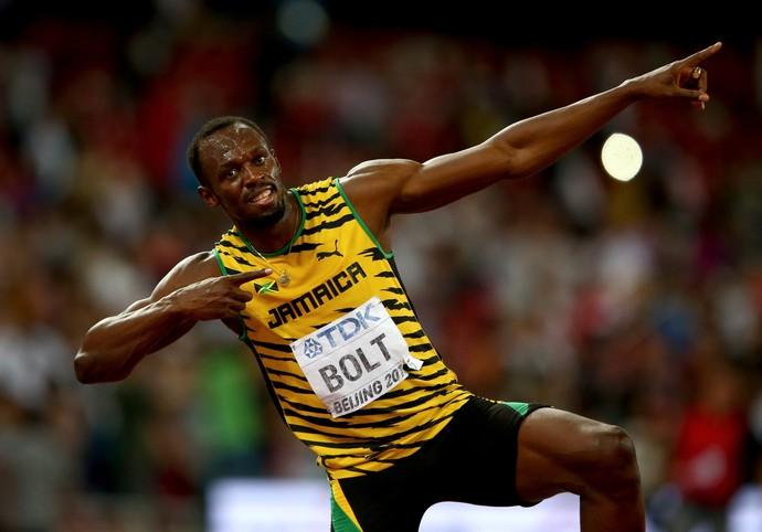 Usain Bolt final 200m Mundial de atletismo de Pequim (Foto: Cameron Spencer / Getty Images)