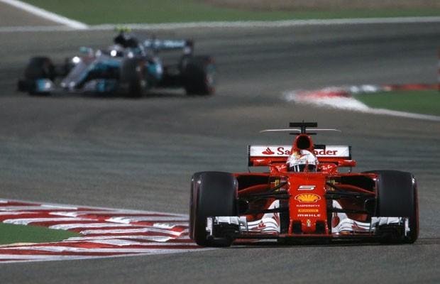Sebatian Vettel no Grande Prêmio do Bahrein (Foto: HOCH ZWEI / DPA)