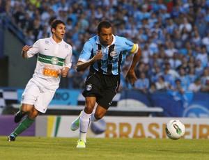 Gilberto Silva em Grêmio e Coritiba (Foto: Lucas Uebel/Divulgação, Grêmio)