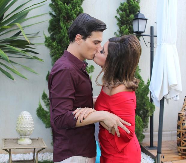Mara Maravilha e o noivo, Gabriel Torres (Foto: Thiago Duran/AgNews)
