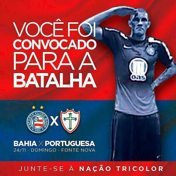 Bahia convoca torcida; Fernandão (Foto: Reprodução)