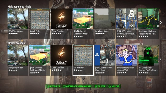 Escolha na lista de mods de Fallout 4 uma modificação que o agrade (Foto: Reprodução/Rafael Monteiro)