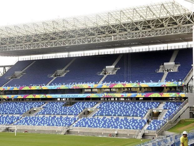 O estádio Arena Pantanal, em Cuiabá, foi entregue à Fifa no dia 21 de maio (Foto: Robson Boa Morte/GloboEsporte)