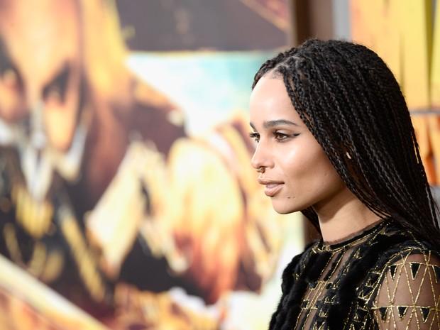 Zoe Kravitz em première em Los Angeles, nos Estados Unidos (Foto: Frazer Harrison/ Getty Images/ AFP)