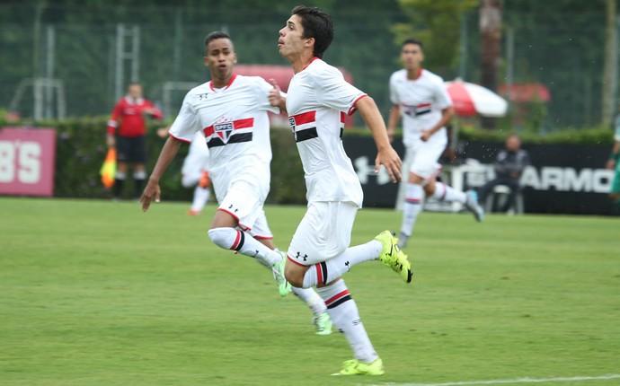 Pedro Henrique de Oliveira, do São Paulo, comemora gol contra o Palmeiras (Foto: Igor Amorim / saopaulofc.net )