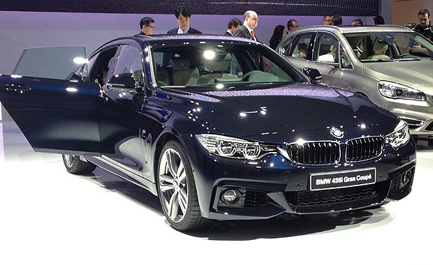 BMW Série 4 Gran Coupé no Salão de Genebra (Foto: Aline Magalhães/Autoesporte)