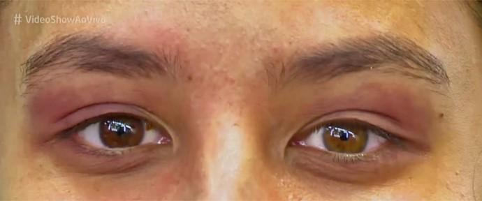 Yanna Lavigne fala da diferença de cor de seus olhos (Foto: Vídeo Show / TV Globo)