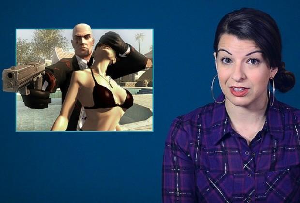 A blogueira Anita Sarkeesian comenta cena do game GTA: campeões de vendas traz mulheres como objetos de consumo ou donzelas que precisam ser salvas, e só (Foto: Divulgação / Feminist Frequency)
