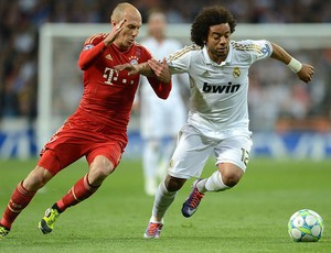 robben marcelo Real Madrid X Bayern munique (Foto: Getty Images)