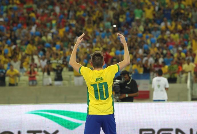 Brasil x Portugal - amistoso desafio futsal castelão - xuxa (Foto: Zerosa Filho/CBFS)
