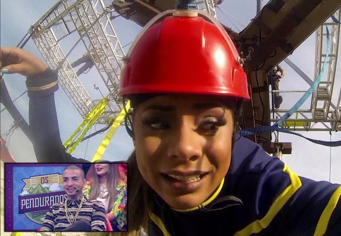 Lexa e Guimê mostram sitonia no jogo (Foto: TV Globo)